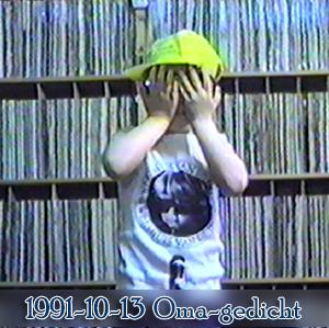 Weeshuis van de Hits 13 october 1991 (Oma-gedicht)