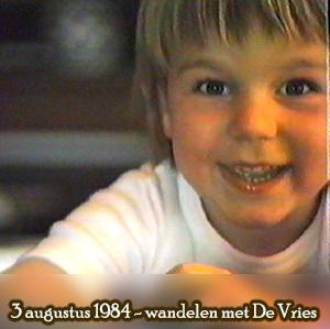 Weeshuis van de Hits 3 augustus 1984 (wandelen met De Vries)